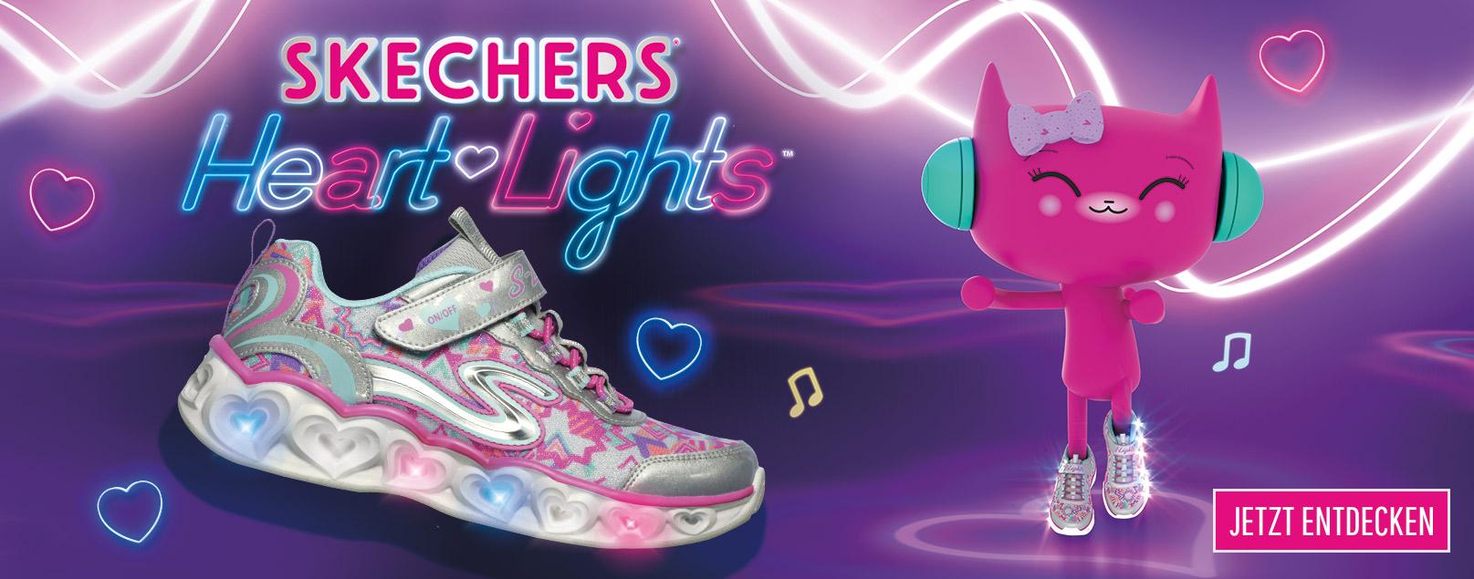 Skechers Mädchen – Farbenfrohe und leuchtende Schuhe für Schule ...