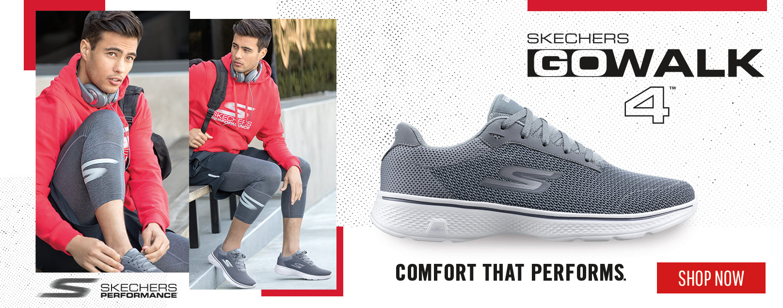 GET COMFORT AND STYLE WITH SKECHERS GOWALK 4'S