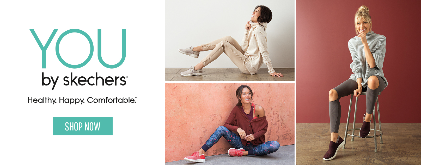 A footwear collection combining lifestyle and wellness. YOU by SKECHERS