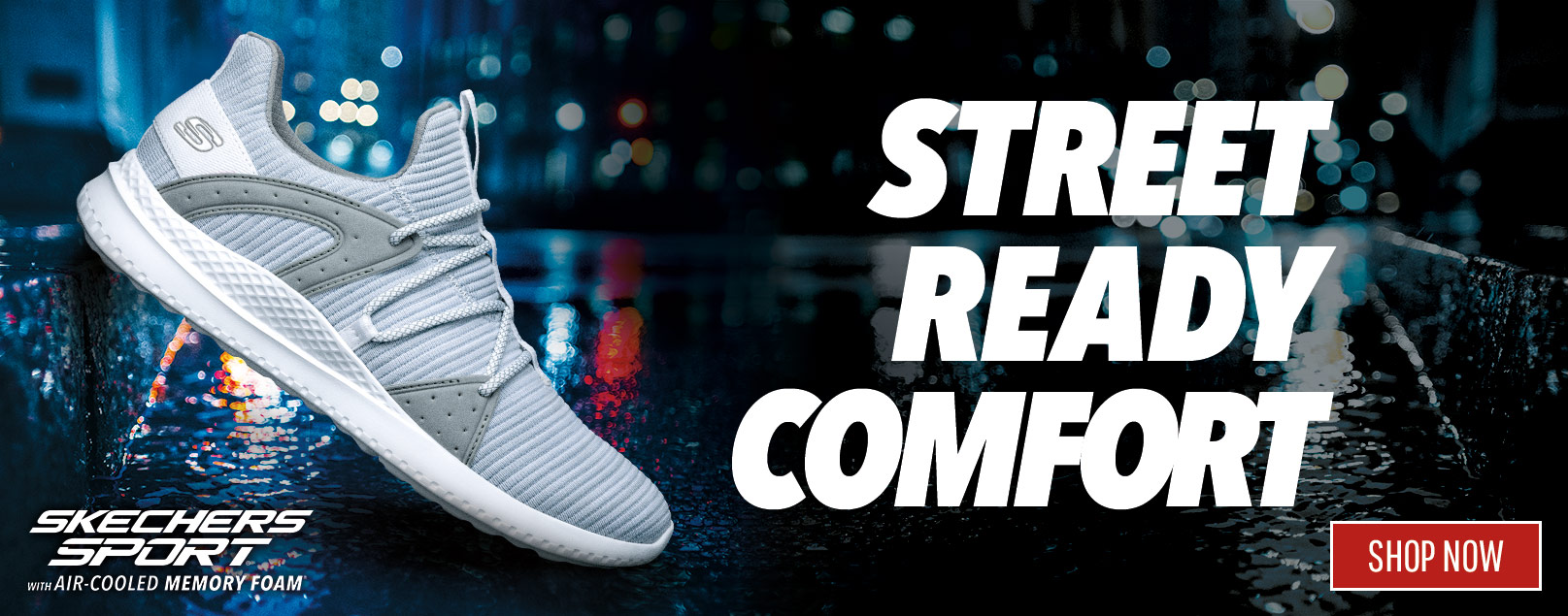 STREET READY COMFORT WITH SKECHERS SPORT FOR MEN