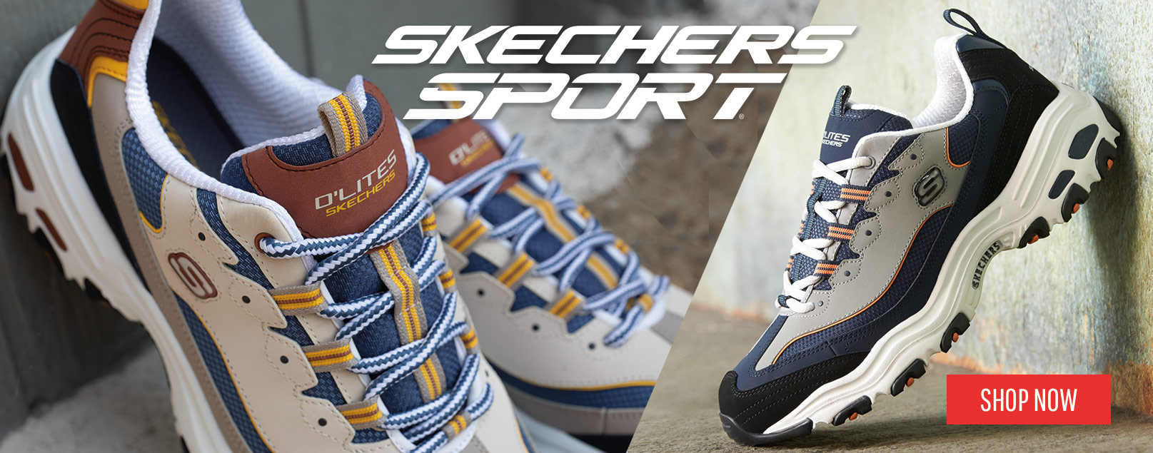 Skechers men's shoes including Sport, Athletic, Performance, Casual and comfort