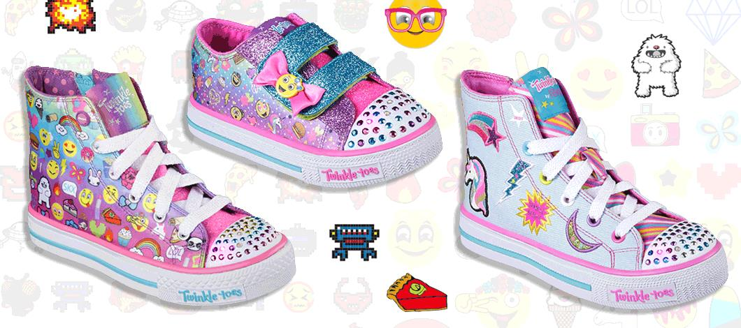 FIND THE CUTEST EMOJI PRINT GIRLS SHOES HERE.
