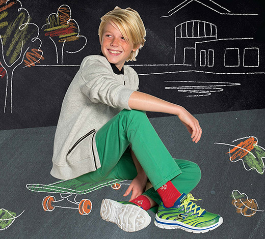 Shop Skechers for Boys' shoes including Sport Memory Foam, S-Lights, Mega Flex and uniform shoes for school wear.