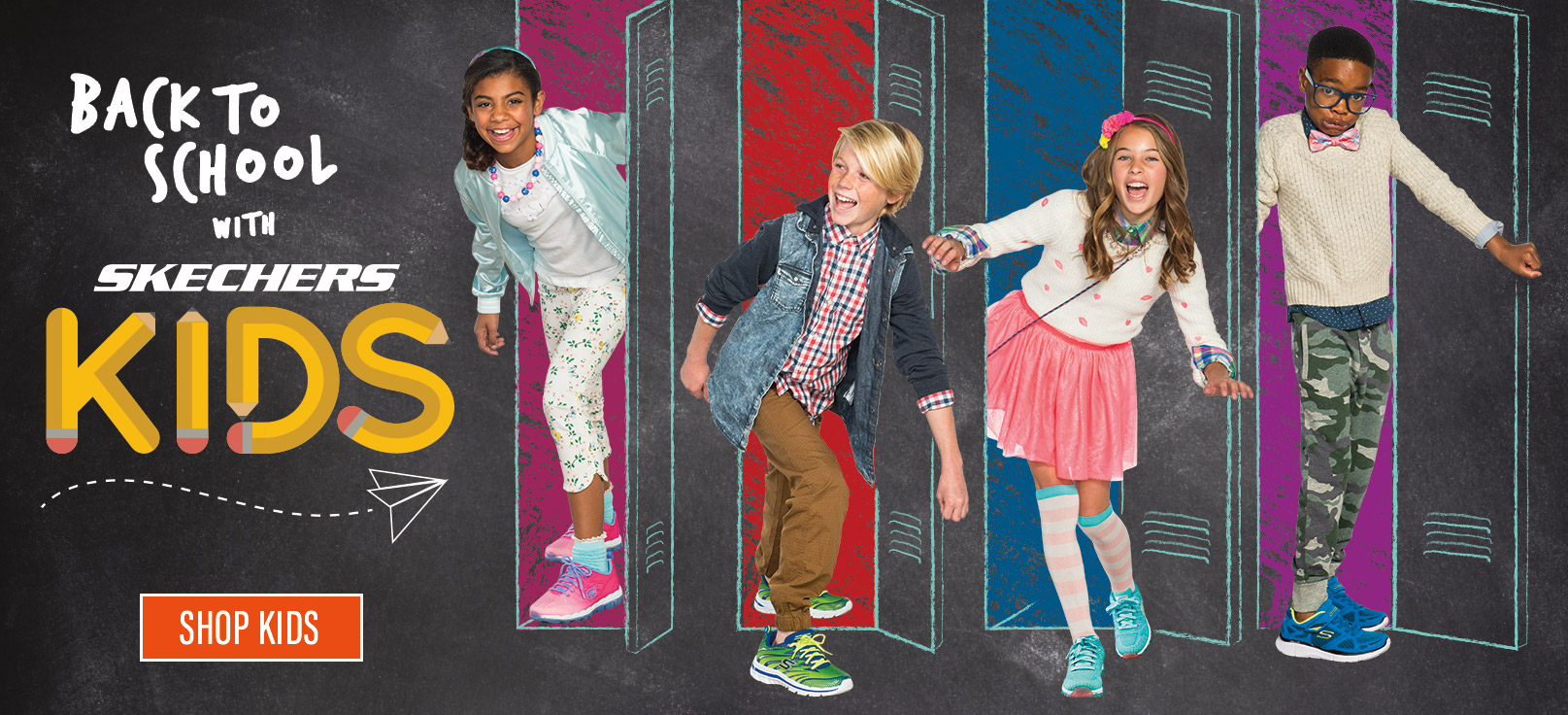 Shop for Kids Back to School Skechers Shoes, Boots, and Sandals including Skechers Burst, GOwalk, Relaxed Fit and Memory Foam.  All sizes and widths available.