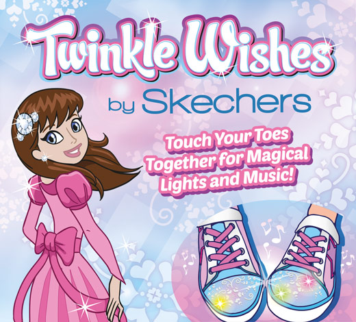 Find Skechers Girls Twinkle Toes Twinkle Wishes light-up shoes on skechers.com