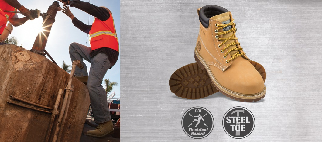 Men's Work steel toe shoes and boots
