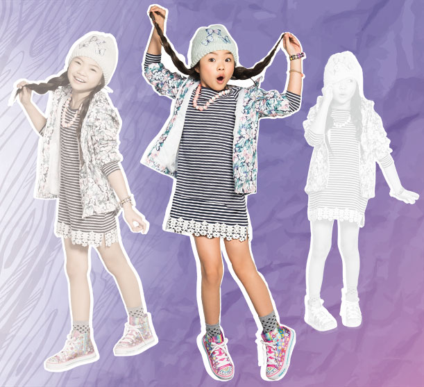 Twinkle Toes shoes for girls with all the light up glitzy fun.