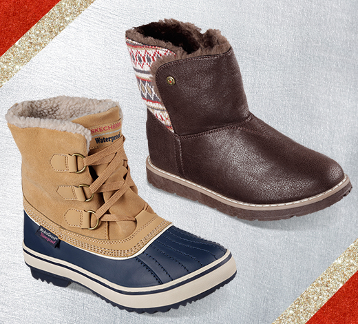 Keep your feet warm in chilly weather with boots.