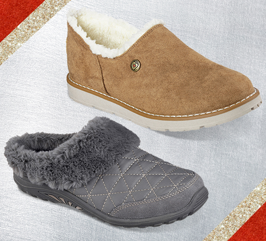 Warm up on cold nights with stylish SKECHERS Slippers
