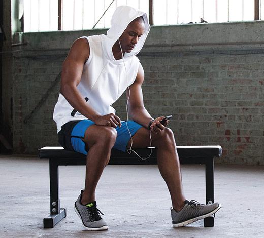 men's Skechers Sport Memory Foam comfort workout fitness trainers sneakers