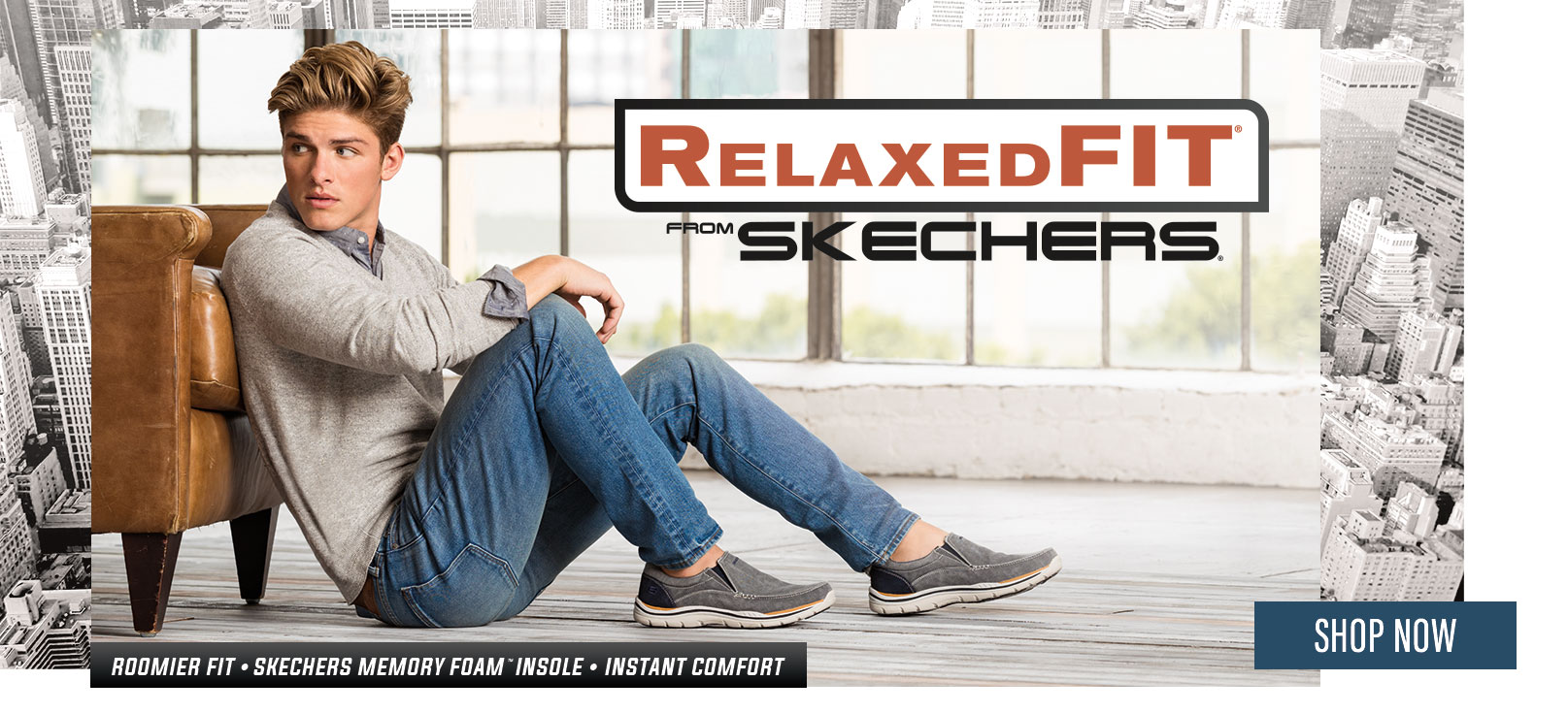 Shop for Men's Skechers Boots and Casual Shoes including Relaxed Fit with Memory Foam