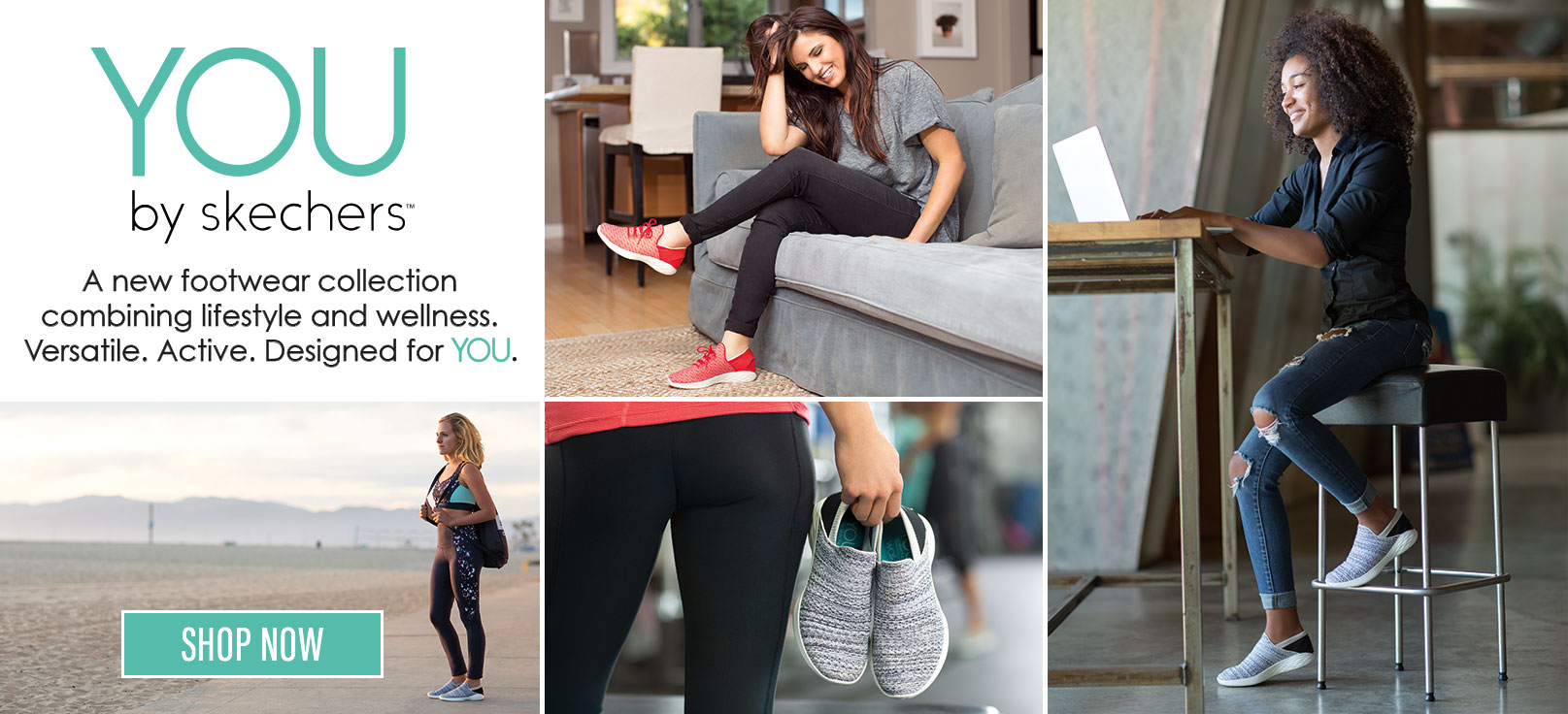 YOU by skechers, a lifestyle and wellness shoe collection