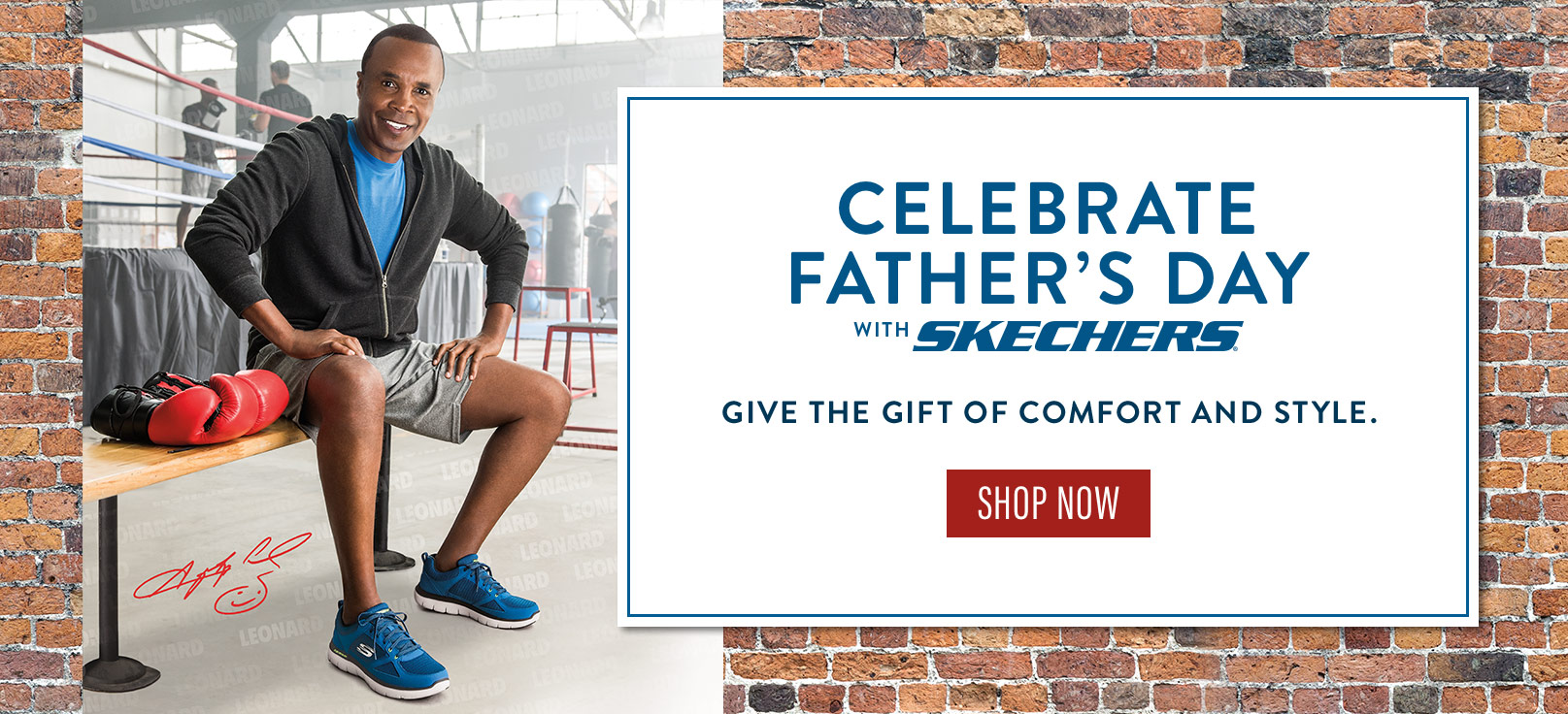 Happy Father's Day from Skechers and Sugar Ray Leonard