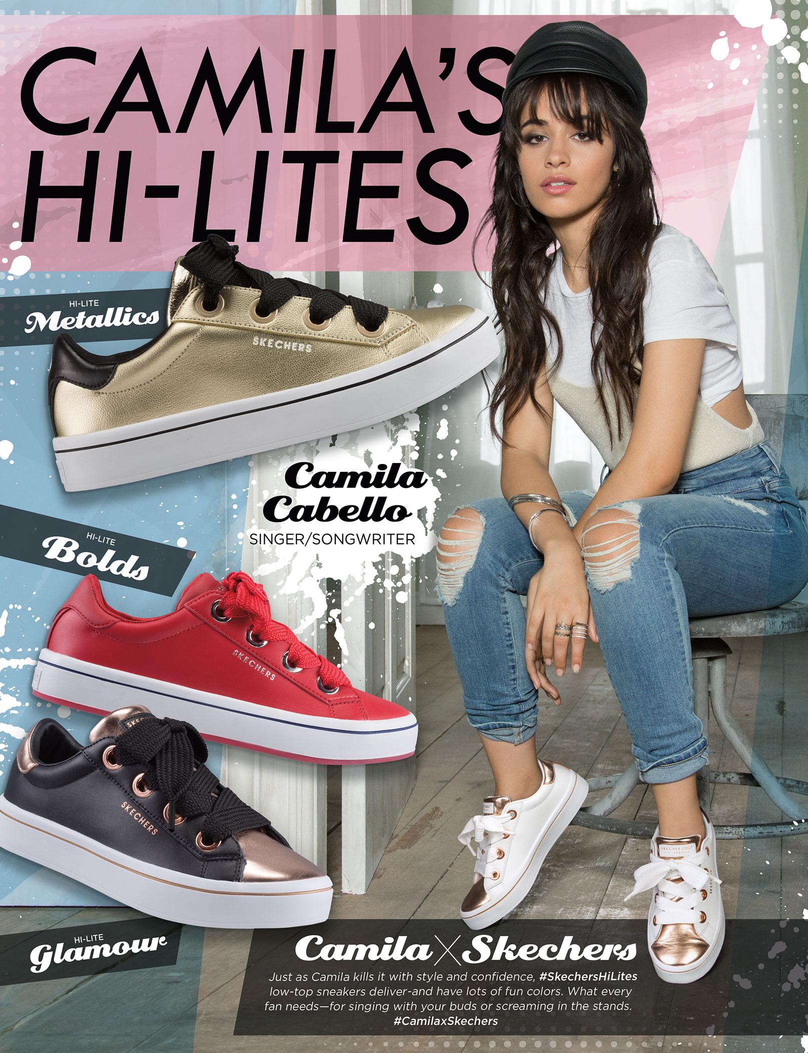 Camila Cabello Introducing Skecher Street Hi-Lites Collection