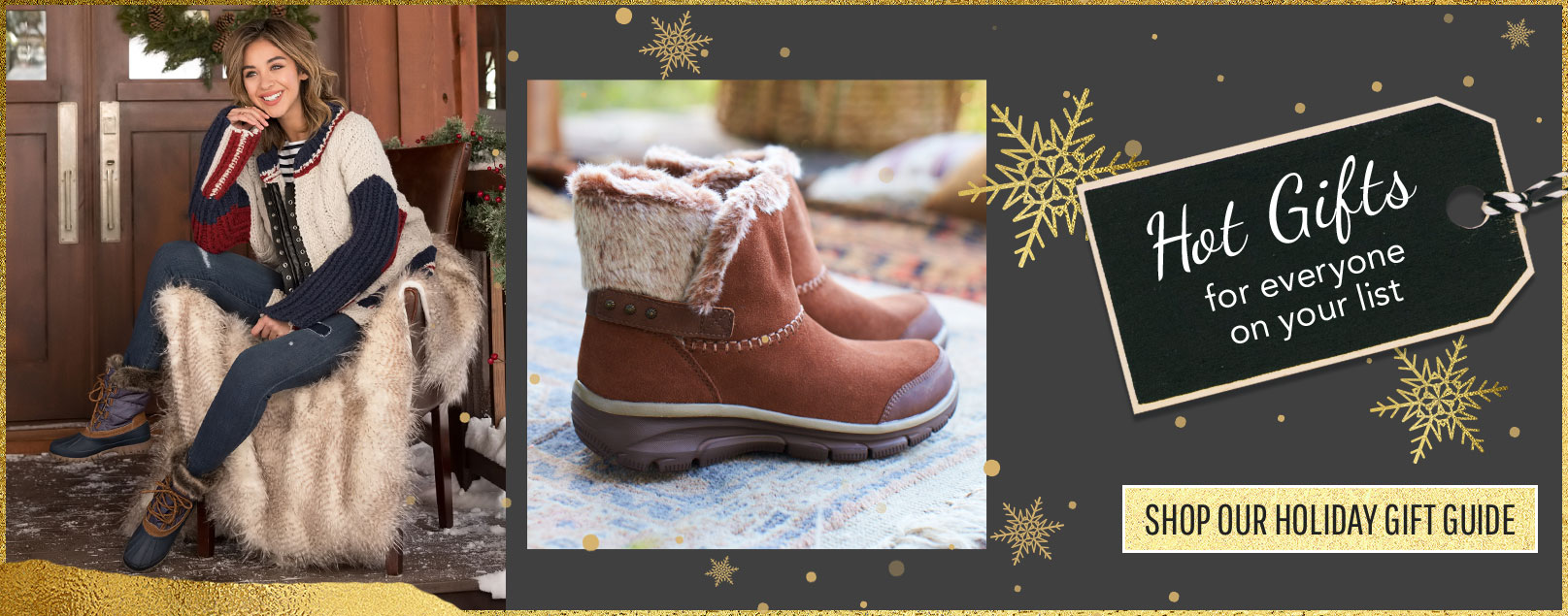 Shop SKECHERS for your Holiday and Christmas shopping needs.
