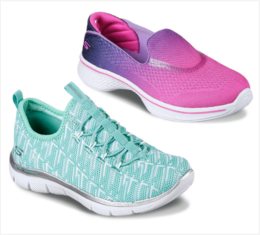 Girls slip on GOwalk 4 and other fun laceless shoes