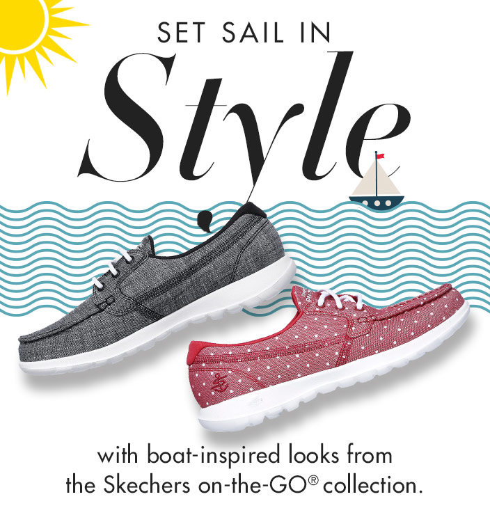 Discover new comfort in classic boat shoe styles with the Skechers On the GO Boat Shoes collection