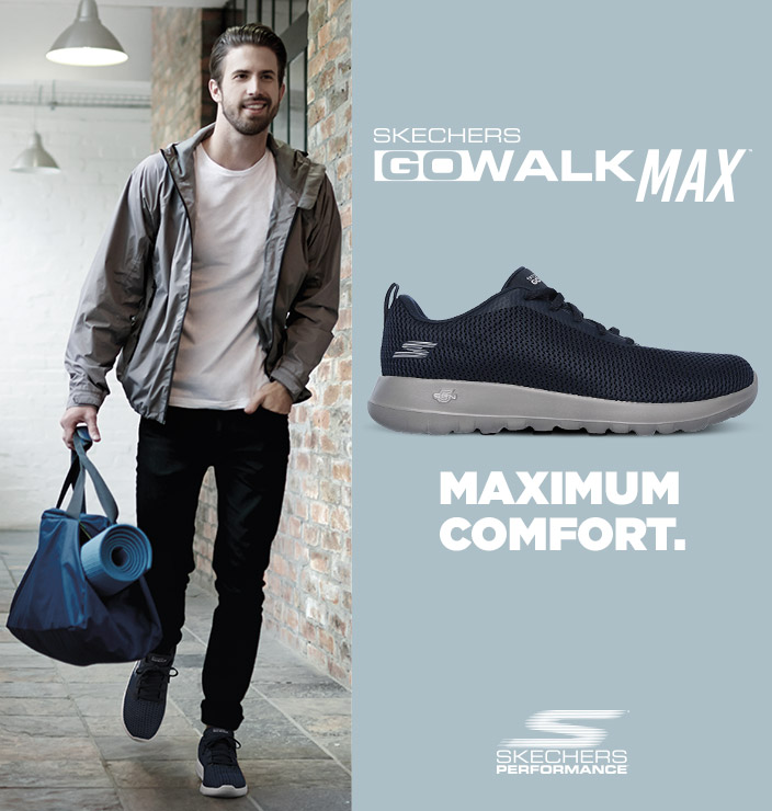 Skechers GOwalk Max features lightweight cushioning and signature Goga Max insole for true walking comfort.