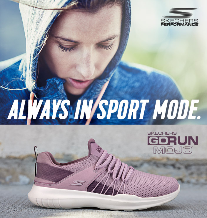 Run more in comfort and style with the Skechers Performance GOrun Mojo shoe.  A variety of styles for running and training that are always in sport mode.