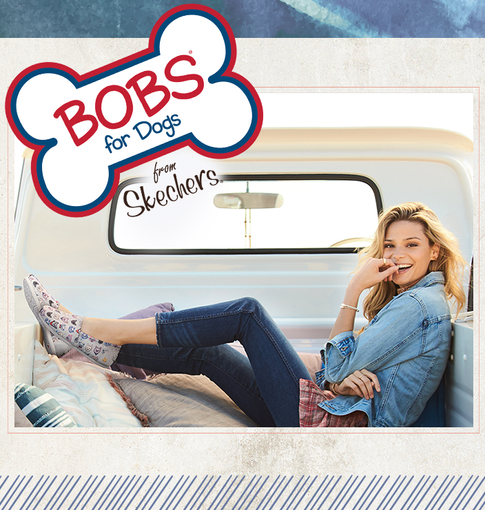 Cuddle up to your furry friends with the SKECHERS BOBS for Dogs and Cats collection.  New designs include slippers, sneakers, sweatshirts, bags and even socks!