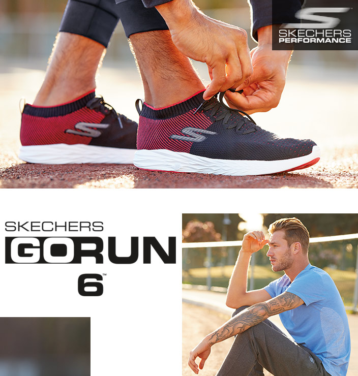 The Skechers GOrun 6 is designed for speed and lightning fast.  A lightweight, neutral cushioning running platform with knit comfort.