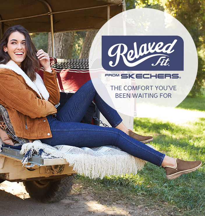 Ease into the season wearing the roomy comfort of Skechers Relaxed Fit shoes and boots.  Get a little extra room in the toe and forefoot for added comfort.