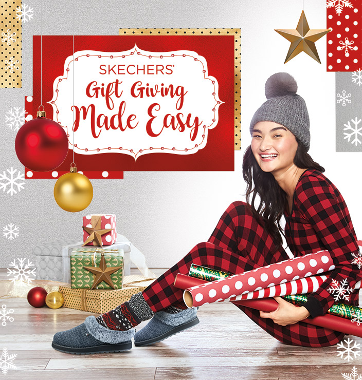 Get every woman on your holiday shopping list taken care of in style with the Skechers.com Holiday Gift Guide.  From athletic walking and running shoes to the most comfortable casuals, fashion boots and slippers to the hottest D'Lites sneakers, Skechers.com has all your holiday shopping needs handled.