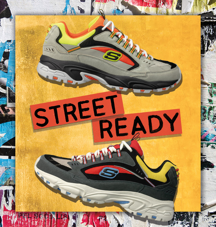 Get ready to look your best with Skechers Classic Sport sneakers for men.  D'Lites, Energy, Stamina and more favorites with color and style for the streets.