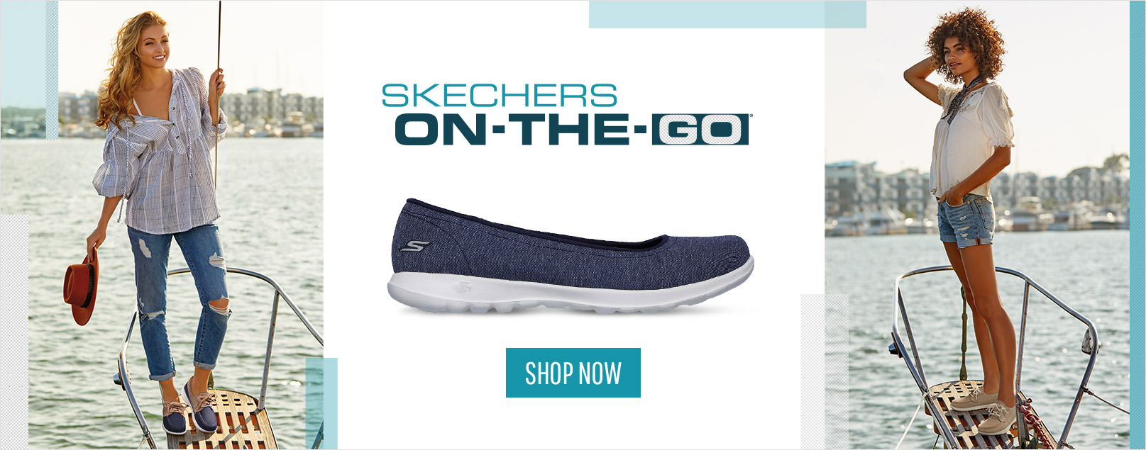 Discover the perfect style for your busy life with the Skechers Performance On the GO collection.  Boat shoes, casual flats, sneakers and more all feature built in comfort.