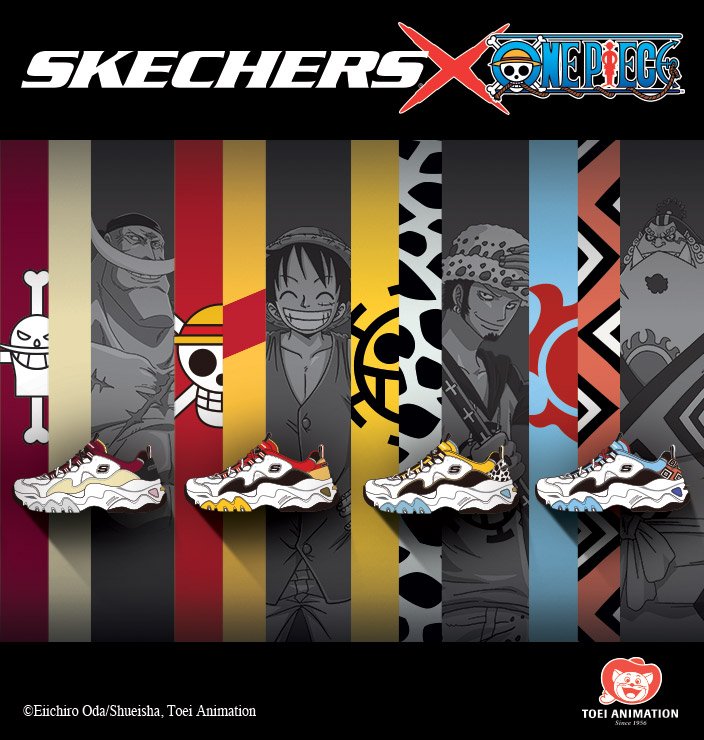 The exciting adventures of Monkey D. Luffy continue in the Skechers D Lites  x cbfe3c6d0c