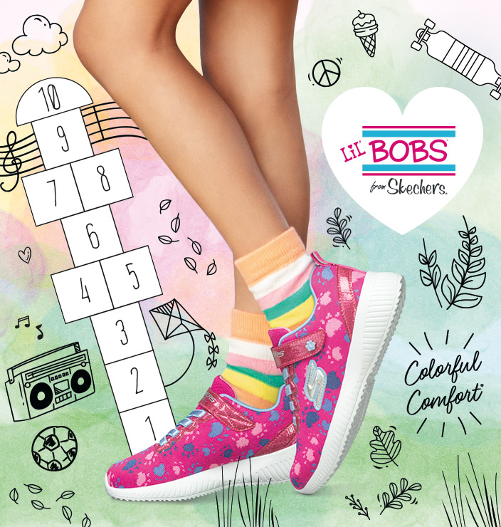 13a2a7c38 She ll have fun and feel good wearing Lil  BOBS by SKECHERS. Casual. Shop  Now