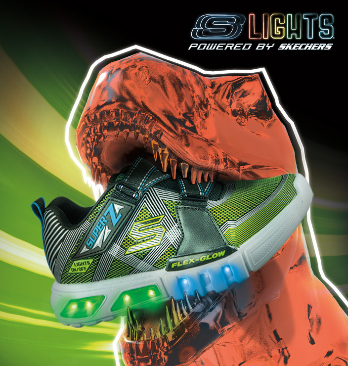 Light up his life with S Lights by Skechers - the latest sporty sneakers featuring bright lights and fun details.