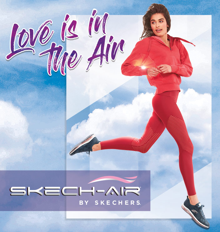Add air cushioned comfort to your workout plan with the SKECHERS Sport Skech-Air collection featuring Air Cooled Memory Foam and visible air cushioning soles. Ideal for training, walking and comfort wear.