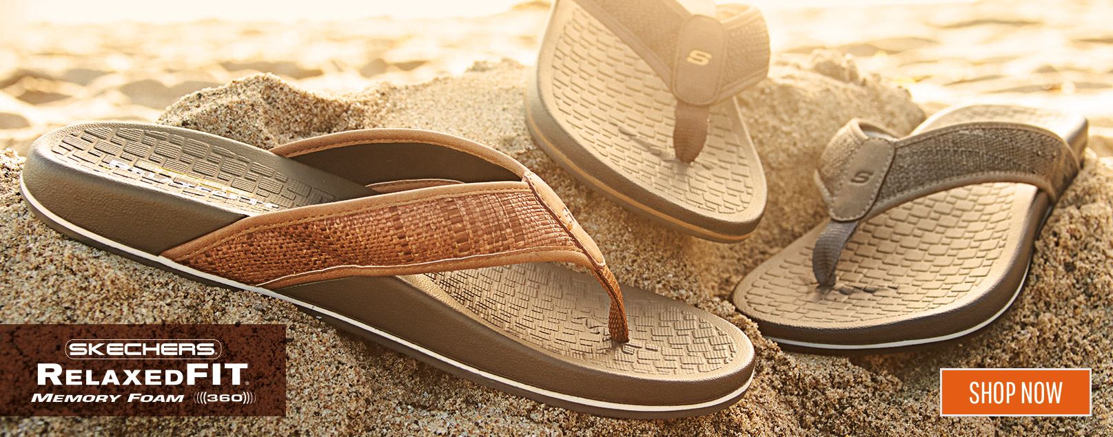 46bcd9aea1d3 Stay relaxed all season long with the Skechers Relaxed Fit sandal  collection. From flip flops