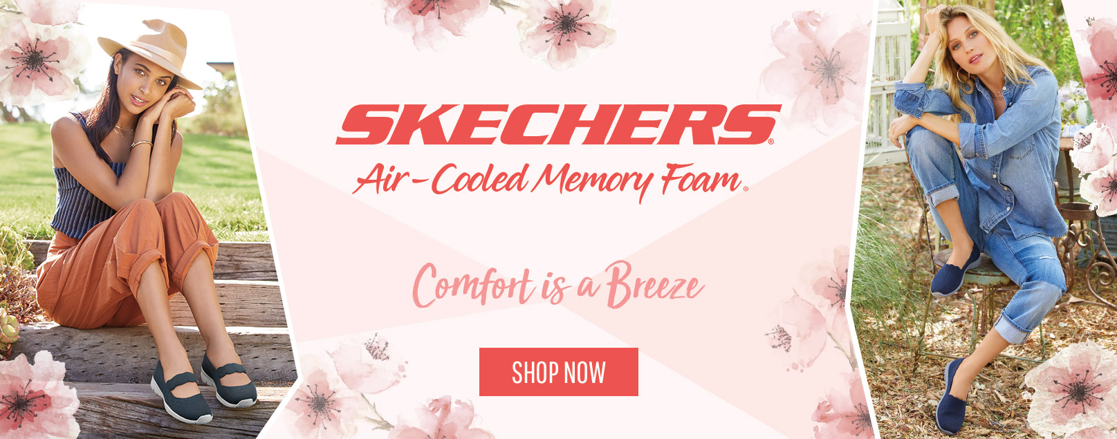 34313d2ffe57 Comfort is a breeze in hot weather with the SKECHERS Air Cooled Memory Foam  casual collection