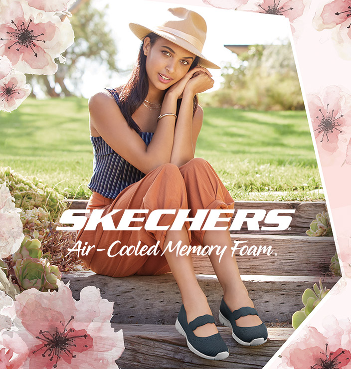 23006e5aecb2 Comfort is a breeze in hot weather with the SKECHERS Air Cooled Memory Foam  casual collection