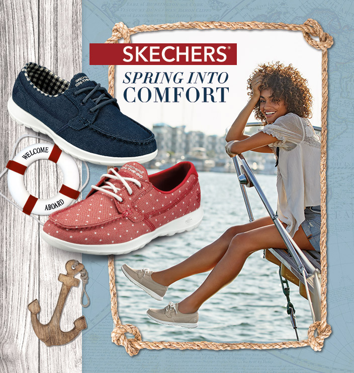 fad66f794c52 Spring into comfort with the Skechers Performance On the GO Boat Shoe  collection. Yacht ready