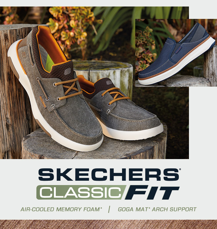 Get on board with the most comfortable boat shoe collection yet from  Skechers USA Classic Fit a9c629838b9
