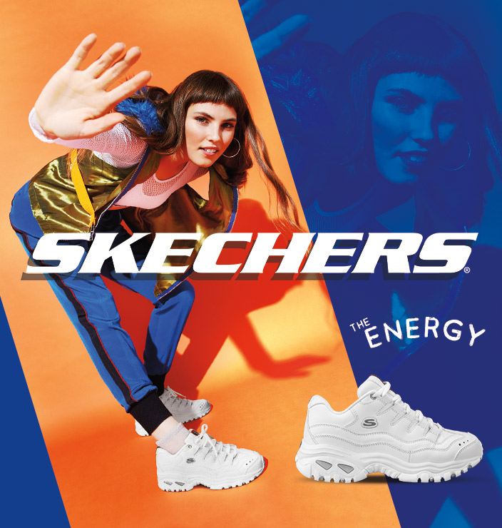 The 90's style is back in a big way with the SKECHERS Energy sneaker - the original 'Dad Shoe' - chunky style, funky looks, clean correct finish.