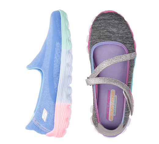 Girls slip on sneakers
