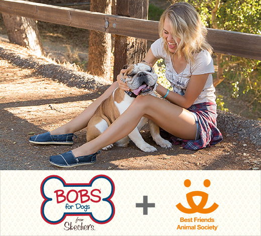 Skechers is proud to team up with Best Friends Animal Society to help save the lives of dogs and cats in America's shelters.