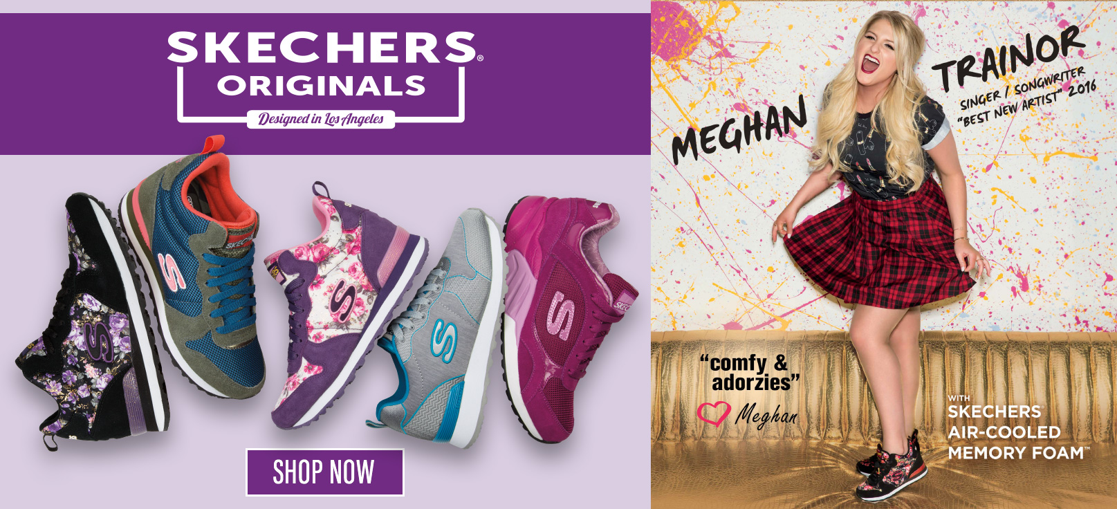 Shop for Women's Skechers Shoes, Sandals and Sneakers including Skechers Originals sport sneakers worn by Meghan Trainor.  Largest selection online.