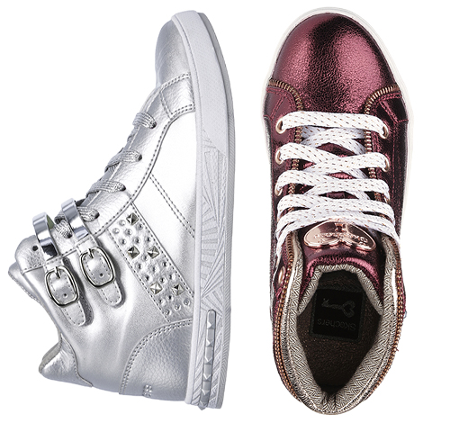 Girls Fashion High Top Sneakers