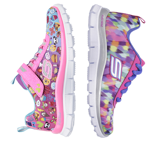 skechers girl's athletic shoes