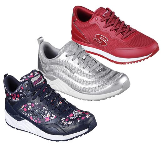 Find women's Skechers Original retro comfortable sneakers