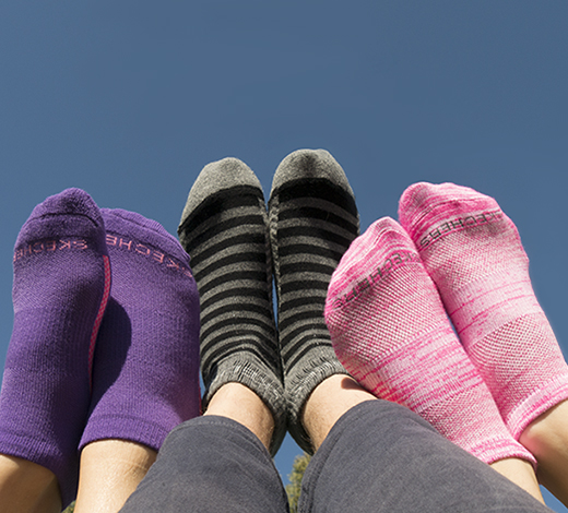Complete the looks with Skechers socks collection