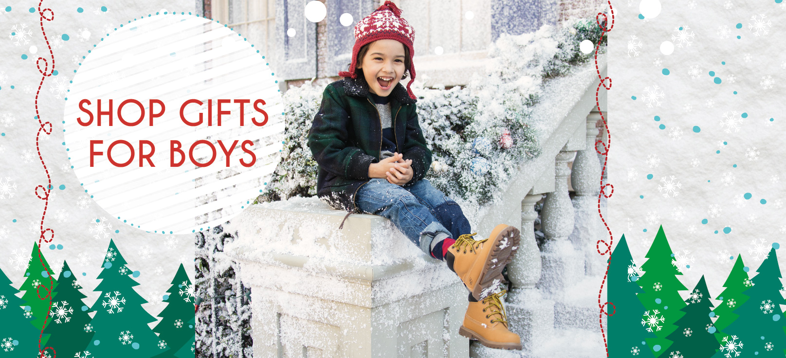 Shop for Holiday Gifts for boys, toddler, youth and grade school including boots, Star Wars shoes, athletic shoes, Skech-Air, Mega Blades, S-Lights and Game Kicks