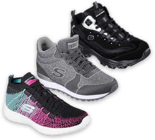 Skechers High Top Sneakers and include Burst, D'Lites and Skechers Originals shoes