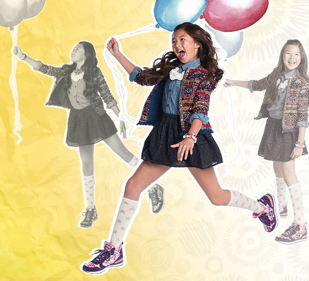 Shop Skechers for Girls including Twinkle Toes, Memory Foam and uniform shoes.