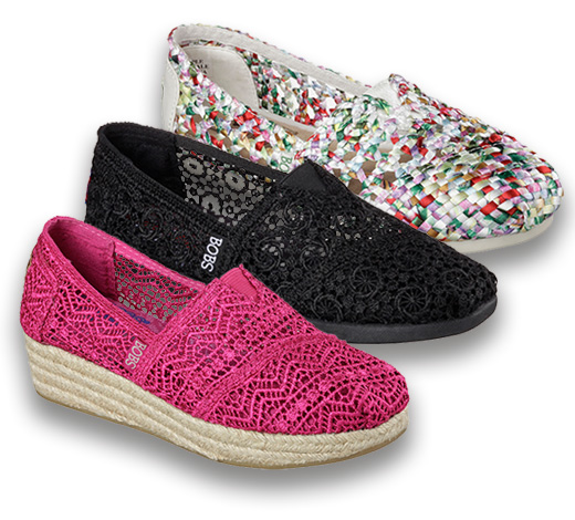 Shop for Skechers Bobs for women and help donate shoes to kids in need, and help Best Friends Animal Shelter save dogs and cats